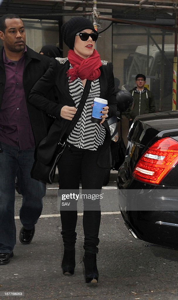 Pink pictured at BBC radio 2 on December 6, 2012 in London, England.