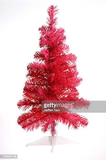 Pink plastic Christmas tree, collapsible
