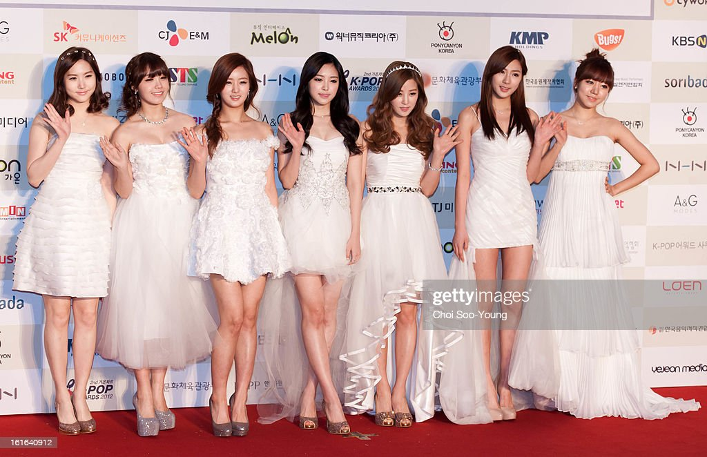 A pink pose for photographs upon arrival during '2nd Gaonchart K-pop Awards' at Olympic Hall on February 13, 2013 in Seoul, South Korea.
