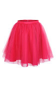 Pink princess skirt on white background