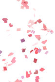 'Pink, Purple, Red Confetti Hearts and Squares'
