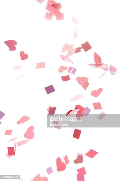 Pink, Purple, Red Confetti Hearts and Squares
