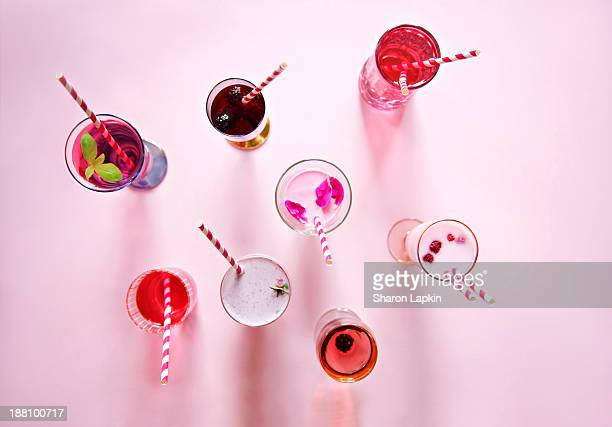 Pink & red juices & smoothies
