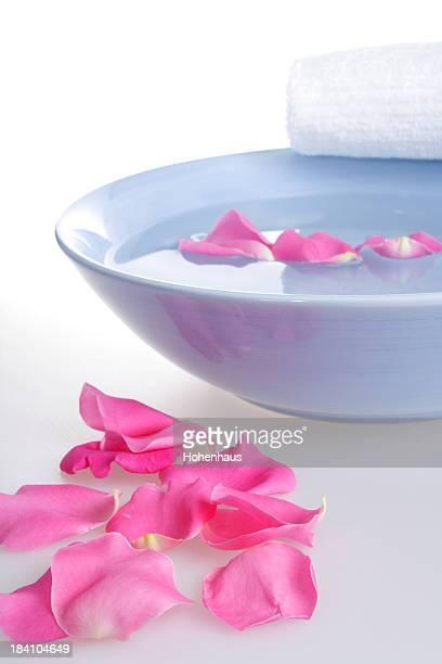 pink rose  towel bowl