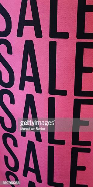 Pink sale sign