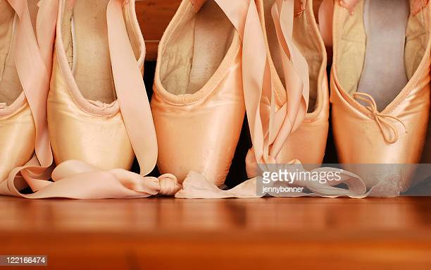 Pink Satin Ballet Pointe Shoes