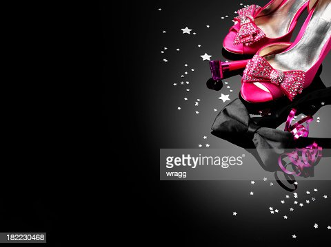 'Pink Shoes, Black Bow Tie'