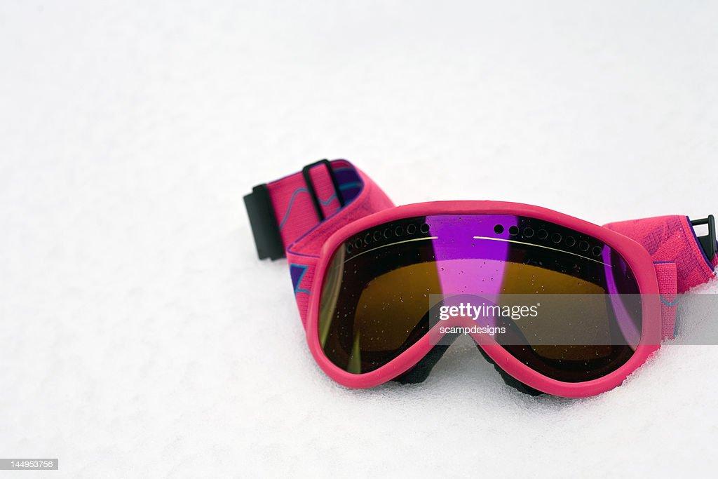 pink ski goggles  Pink Ski Goggle Stock Photo