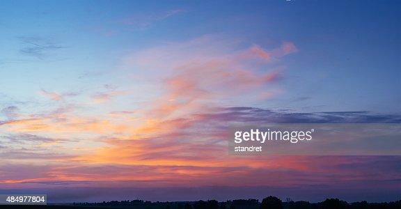pink sky : Stock Photo