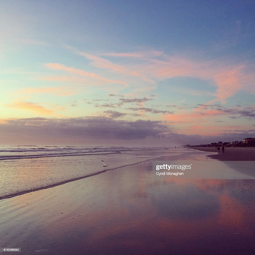Pink Sunrise on the Beach : Stock Photo