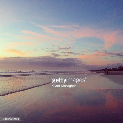 Pink Sunrise on the Beach : Stock Photo