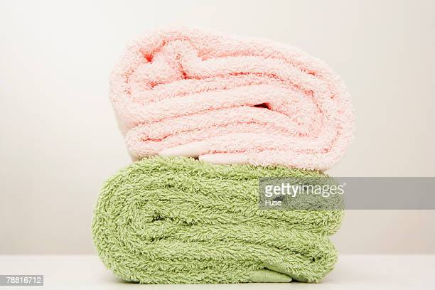 Pink Towel and Green Towel