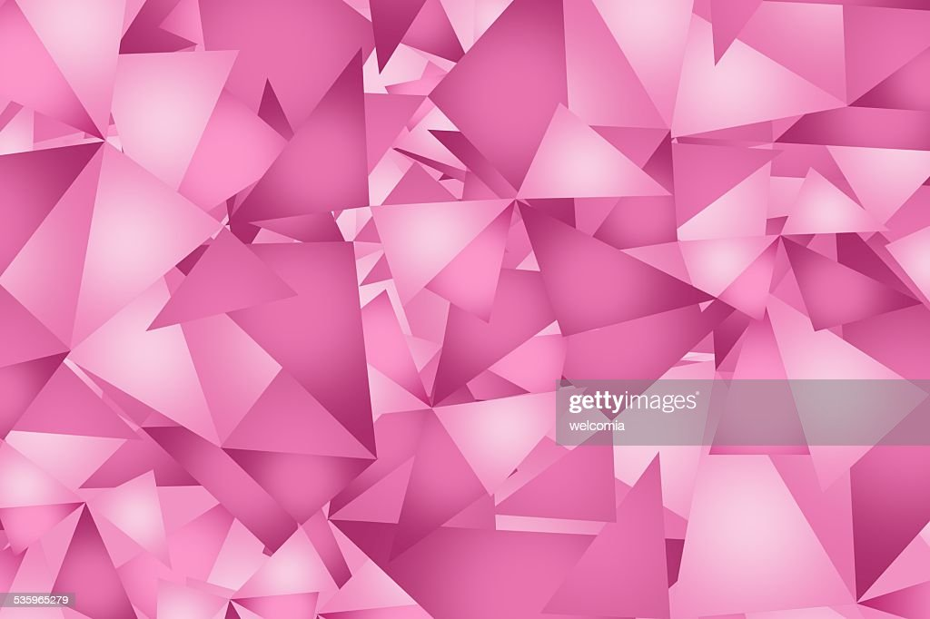 Pink Triangles Background : Stock Photo