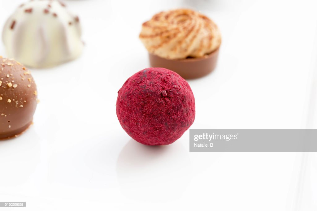 Pink truffles : Foto de stock