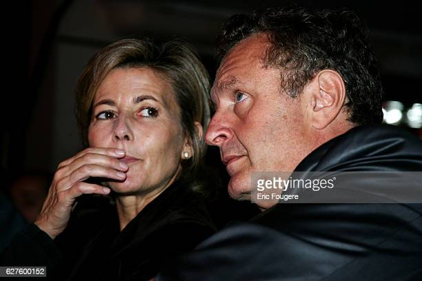 Pink TV host Claire Chazal and producer Michel Field