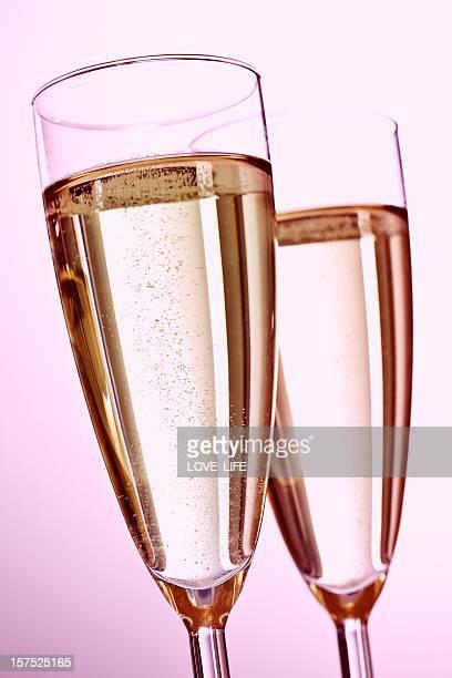 Pink Valentines Day Champagne