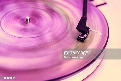 Pink vinyl record