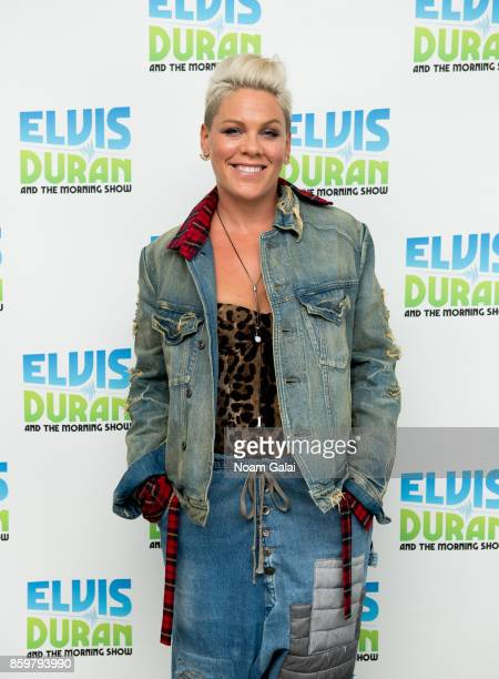 Pink visits 'The Elvis Duran Z100 Morning Show' at Z100 Studio on October 10 2017 in New York City