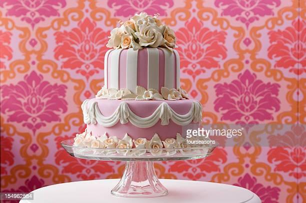 pink Hochzeitstorte