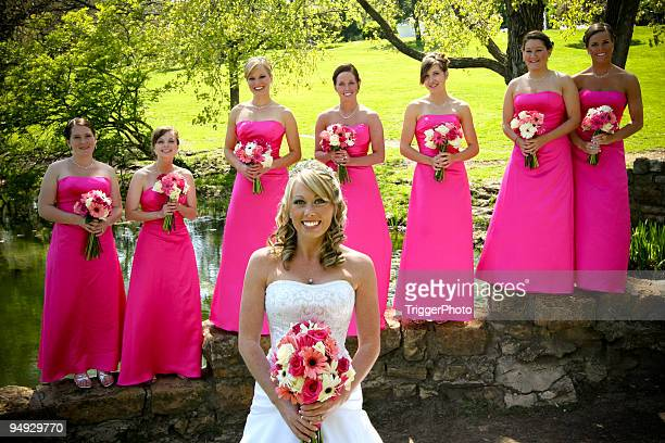 Rosa Hochzeit-Portraits