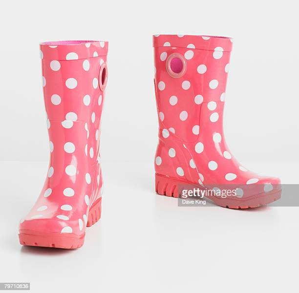 Pink wellington boots