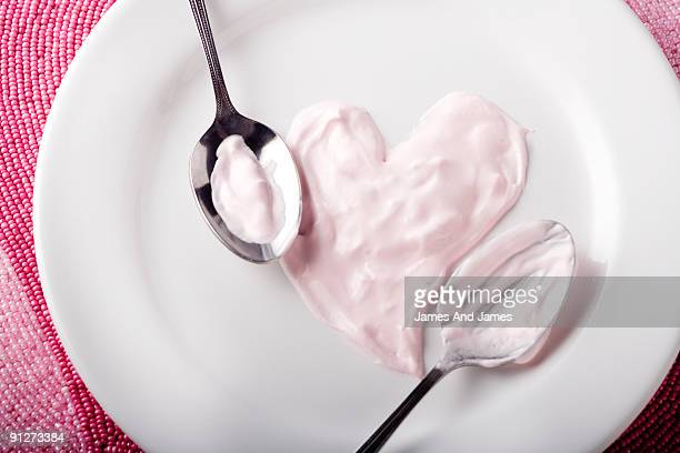 Pink Whipped Cream in Heart Shape