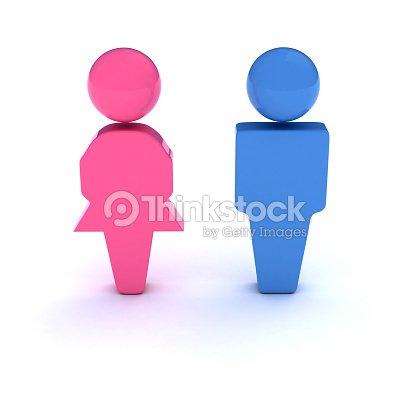 b9bef6d3d0869 Homem e mulher Símbolo   Foto de stock