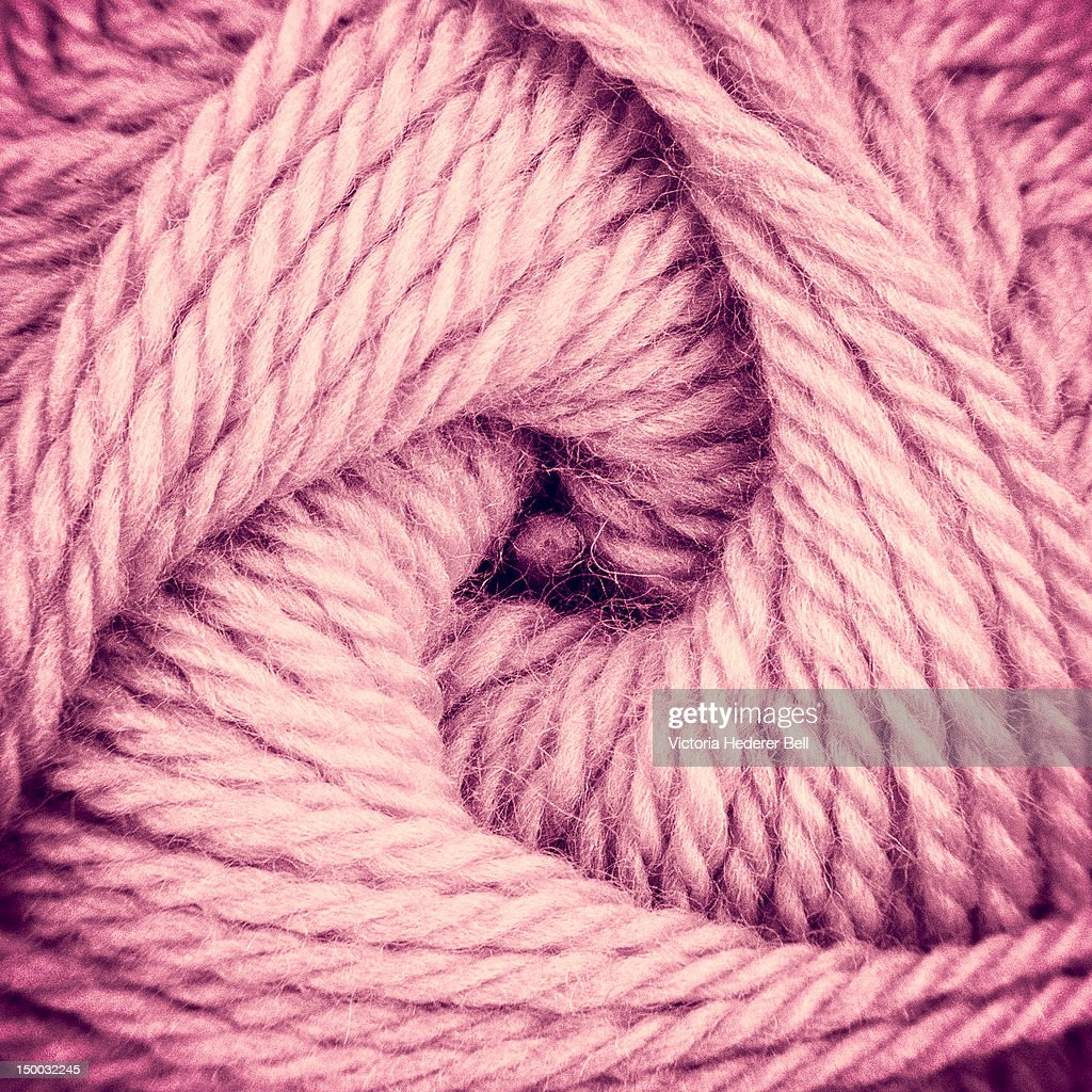 Pink yarn skein