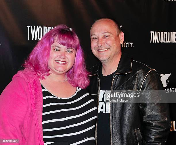 Pinky Coogan and Keith Coogan attend the 'Two Bellmen' world premiere at JW Marriot at LA Live on March 10 2015 in Los Angeles California