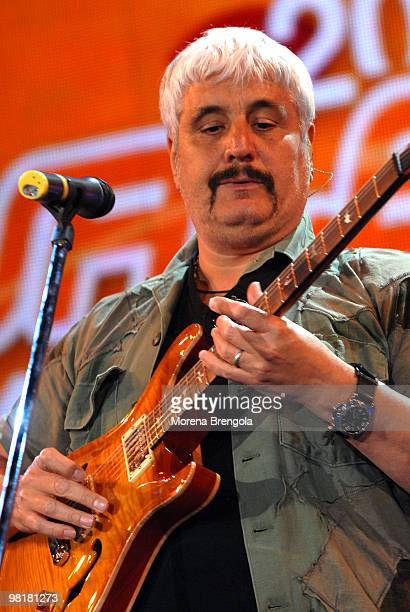Pino Daniele appears on the 'Festivalbar 2007' tv show on June 16 2007 in Milan Italy
