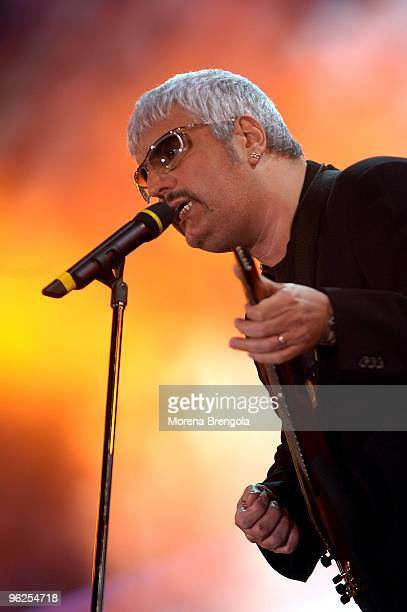 Pino Daniele performs at Festivalbar on June 02 2004 in Milan Italy