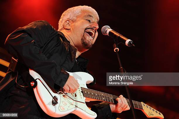 Pino Daniele performs at the Arena of Verona during the Wind Music Awards on June 7 2009 in Verona Italy