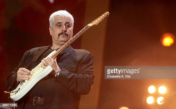 Pino Daniele performs at the Nat Geo Music Live Earth Day 2010 on April 22 2010 in Rome Italy