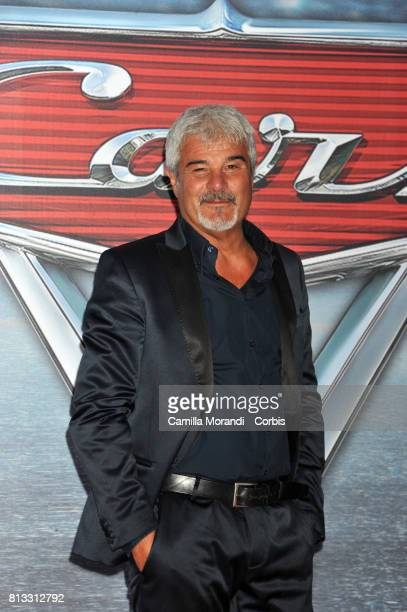 Pino Insegno attends a photocall for Cars 3 on July 12 2017 in Rome Italy