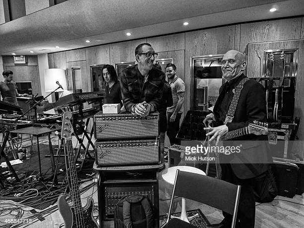 Pino Palladino and Wilko Johnson during rehearsals for The Who's 50th Anniversary Gig for The Teenage Cancer Trust at British Grove Studios on...