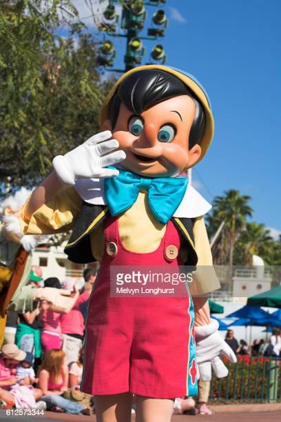 Pinocchio, Disney Stars and Motor Cars Parade, Disney MGM Studios, Disney World, Orlando, Florida, USA