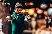 Pinocchio puppet.