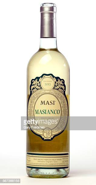 MASIANCO pinot grigio Verduzzo Vendemmia 2012 photographed on August 6 in the Los Angeles TImes studio in Los Angeles