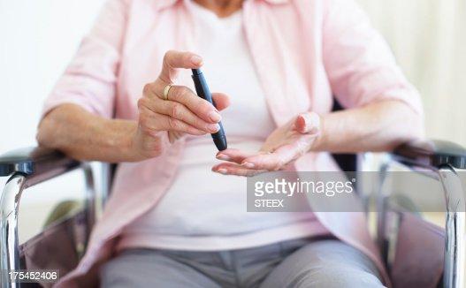 Pin-prick to the finger - Diabetes/Senior Health