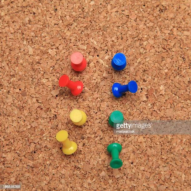 Pins in Kork-board