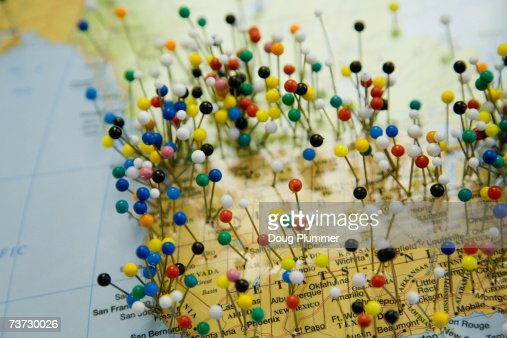Pins in map