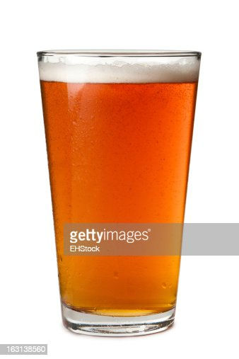 Pint Beer Glass Isolated on White Background