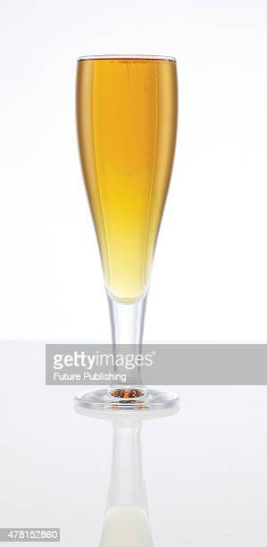 A pint glass filled with pale ale on September 4 2013