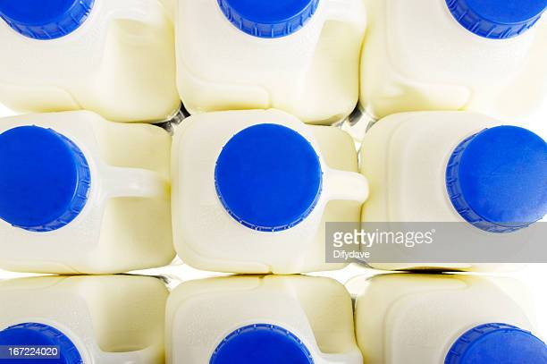 Pint Milk Containers Arranged In Rows