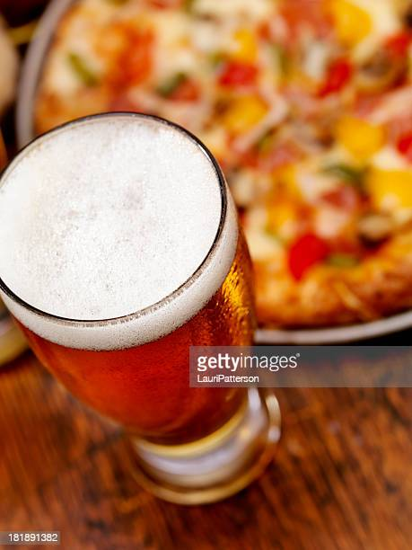 Pint of Beer and a Deluxe Pizza