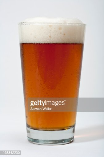 Pint of frothy beer