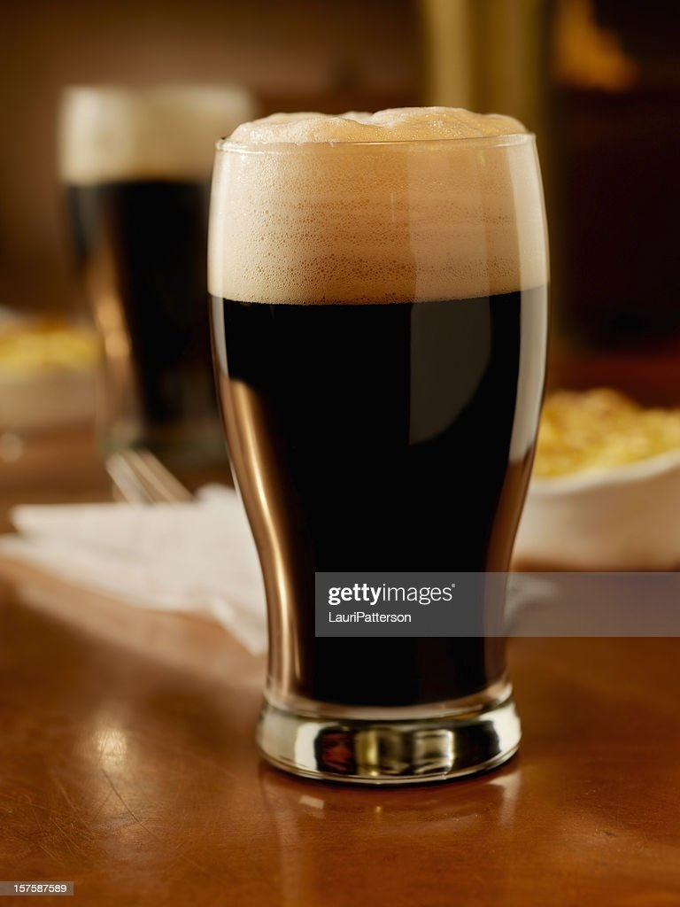 Pint of Stout with shepherds pie