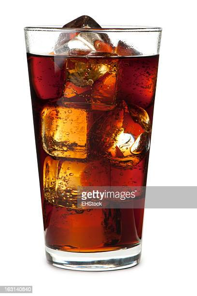 Pint Soda Pop Glass Isolated on White Background