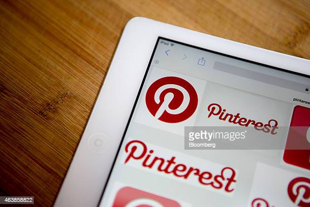 Pinterest Inc logos are displayed for a photograph on an Apple Inc iPad Air in Washington DC US on Thursday Feb 19 2015 Pinterest Inc the online...
