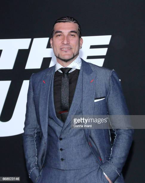 Pinto 'Wahin' attends 'The Fate of The Furious' New York Premiere at Radio City Music Hall on April 8 2017 in New York City